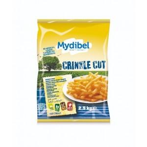 """Πατάτα Προτηγανισμένη Κατεψυγμένη 12X12 Crincle Cut """"Mydibel"""" (2.5 Kg τεμάχιο / 4 τεμάχια στο κιβώτιο)"""