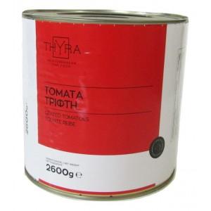 """Τομάτα Τρίφτη 12-14% Brix """"Thyra"""" (3 Kg τεμάχιο-2,6 Kg καθαρό βάρος/6 τεμάχια στο κιβώτιο)"""