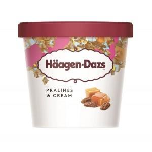 "Praline & Cream Minicups ""Haagen - Dazs"" 100ml (24 τεμάχια στο κιβώτιο)"