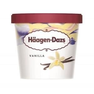 """Vanilla Minicups """"Haagen - Dazs"""" 100ml (24 τεμάχια στο κιβώτιο)"""