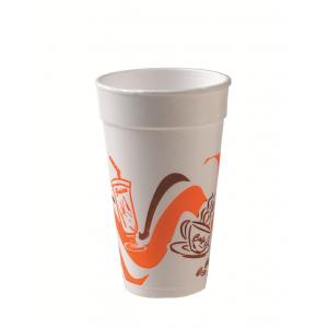 Ποτήρι Foam 12oz Πορτοκαλί (20 τεμάχια στο πακέτο/50 πακέτα στο κιβώτιο)