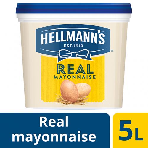 Μαγιονέζα Hellmann's Real (5 Lt τεμάχιο+500 ml δώρο/2 τεμάχια στο κιβώτιο)
