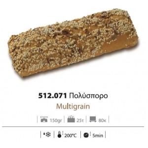 Ψωμί Σάντουιτς Πολύσπορο προψημένο 150 gr (25 τεμάχια στο κιβώτιο)