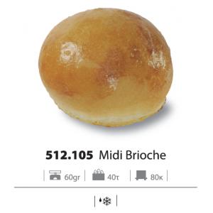 Ψωμί χάμπουργκερ Brioche ψημένο 60 gr (35 τεμάχιο στο κιβώτιο)