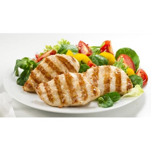 Κοτόπουλο Φιλετάκια Ψημένα 35-40 gr (28 τεμάχια περίπου το πακέτο-1 Kg πακέτο/6 πακέτα το κιβώτιο)