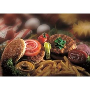 """Μπιφτέκι Χάμπουργκερ  Σχάρας Ψημένο Κατεψυγμένο 70-75 gr """"Τσαουσίδης"""" (15 τεμάχια στο πακέτο/6 πακέτα στο κιβώτιο)"""