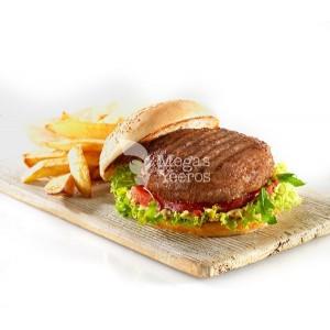 """Μπιφτέκι Burger 100% Βοδινό Κατεψυγμένο 160 gr/τεμάχιο """"Μέγας Γύρος"""" (40 τεμάχια/6,4 Kg το κιβώτιο)"""