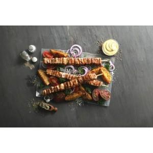 """Σουβλάκι Χοιρινό Πανσέτα Μαριναρισμένο Super Κατεψυγμένο 110 gr/τεμάχιο """"Μέγας Γύρος"""" (60 τεμάχια/6.6 Kg το κιβώτιο)"""