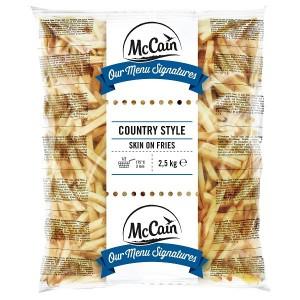 """Πατάτα Προτηγανισμένη Κατεψυγμένη 11Χ11 Με Φλούδα (Orig. Country) """"McCain"""" (2.5 Kg τεμάχιο / 5 τεμάχια στο κιβώτιο)"""