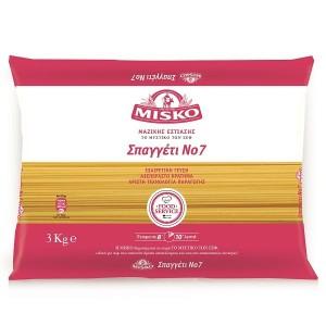 """Μακαρόνια Νο7 """"Misko"""" (3 Κg τεμάχιο/ 4 τεμάχια στο κιβώτιο)"""