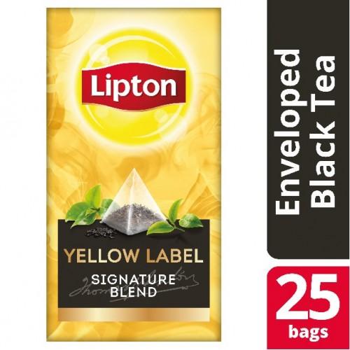"""Τσάι Πυραμίδα Μαύρο Sing """"Lipton"""" (1 πακέτο - 25 Φακελάκια Χ 2 gr /6 πακέτα στο κιβώτιο)"""