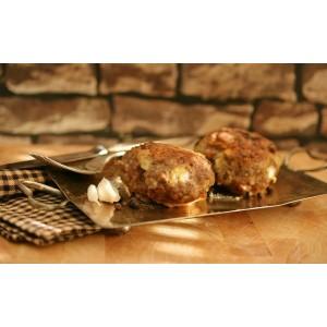 Μπιφτέκι Βοδινό-Χοιρινό Γεμιστό Κατεψυγμένο 160 gr περίπου/τεμάχιο Μακρόστενο  (35 τεμάχια περίπου/5 Kg το κιβώτιο)
