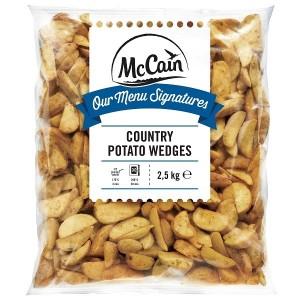 """Πατάτα Προτηγανισμένη Κατεψυγμένη Κυδωνάτη Με Φλούδα & Μπαχαρικά (Country) """"McCain"""" (2.5 Kg τεμάχιο / 4 τεμάχια στο κιβώτιο)"""