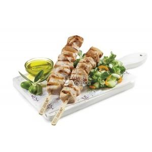 """Κοτόπουλο Σουβλάκι Φιλέτο Χειροπιαστό Μαριναρισμένο 100 gr Κατεψυγμένο """"Μέγα Γύρος"""" 6,4 Kg"""