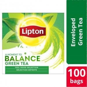 """Τσάι Πράσινο """"Lipton"""" (1 πακέτο - 100 Φακελάκια Χ 1.3 gr /12 πακέτα στο κιβώτιο)"""