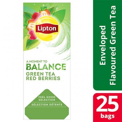 """Τσάι Πράσινο με Κόκκινα Μούρα """"Lipton"""" (1 πακέτο - 25 Φακελάκια Χ 1.4 gr /6 πακέτα στο κιβώτιο)"""
