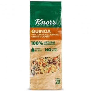 """Κινόα με Τομάτα, Καρότα, Ελιές και Κάπαρη """"Knorr"""" (548 gr τεμάχιο/4 τεμάχια στο κιβώτιο)"""