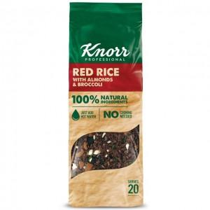 Κόκκινο Ρύζι με Μπρόκολο και Αμύγδαλα (550 gr τεμάχιο/4 τεμάχια στο κιβώτιο)