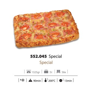 Πίτσα Αφράτη Special Κατεψυγμένη 1,235gr (6,63 Kg το κιβώτιο - 5 τεμάχια στο κιβώτιο )