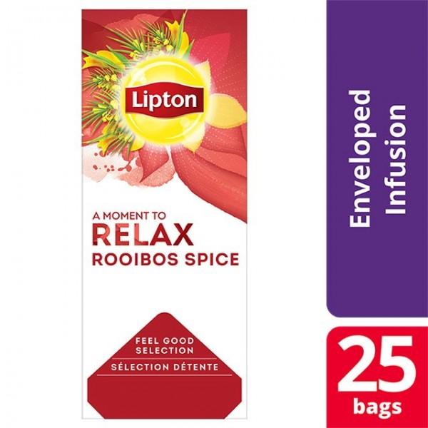 """Τσάι Μαύρο Μπαχαρικά Roibos """"Lipton"""" (1 πακέτο - 25 Φακελάκια Χ 1.6 gr /6 πακέτα στο κιβώτιο)"""