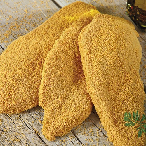 """Κοτόπουλο Σνίτσελ Crispy Πανέ Κατεψυγμένο 90-120 gr/τεμάχιο """"Μακεδονίας"""" (25 τεμάχια περίπου/3 Kg κιβώτιο)"""