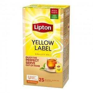 """Τσάι Μαύρο Κίτρινο """"Lipton""""  (1 πακέτο -25 Φακελάκια Χ 1.5 gr /6 πακέτα στο κιβώτιο)"""