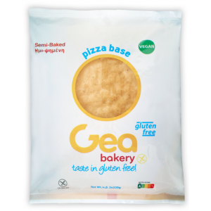 Βάση Πίτσας Ημιψημένη Χωρίς Γλουτένη - Vegan Κατεψυγμένη (2 συσκευασίες των 220 gr το πακέτο/5 πακέτα το κιβώτιο)