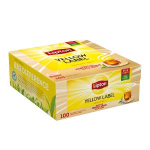 """Τσάι Μαύρο Κίτρινο """"Lipton""""  (1 πακέτο - 100 Φακελάκια Χ 1.8 gr /12 πακέτα στο κιβώτιο)"""