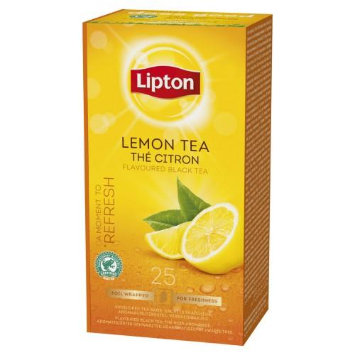 """Τσάι Μαύρο Λεμόνι """"Lipton"""" (1 πακέτο - 25 Φακελάκια Χ 1.6 gr /6 πακέτα στο κιβώτιο)"""