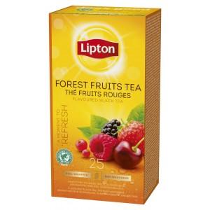 """Τσάι Μαύρο Φρούτα του Δάσους """"Lipton"""" (1 πακέτο - 25 Φακελάκια Χ 1.6 gr /6 πακέτα στο κιβώτιο)"""