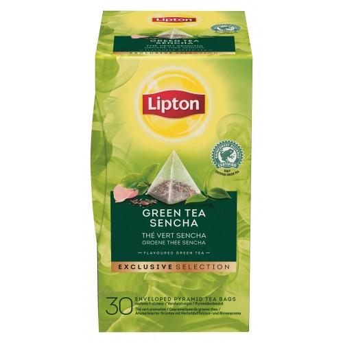 """Τσάι Πυραμίδα Green Tea Sencha """"Lipton"""" (1 πακέτο - 30 Φακελάκια Χ 1.8 gr /6 πακέτα στο κιβώτιο)"""