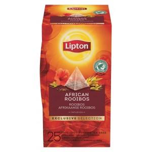"""Τσάι Πυραμίδα African Rooibos """"Lipton"""" (1 πακέτο - 25 Φακελάκια Χ 2 gr /6 πακέτα στο κιβώτιο)"""