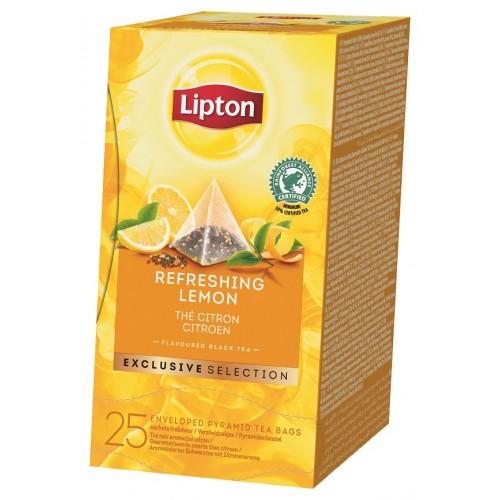 """Τσάι Πυραμίδα Λεμόνι """"Lipton"""" (1 πακέτο - 25 Φακελάκια Χ 1.7 gr /6 πακέτα στο κιβώτιο)"""