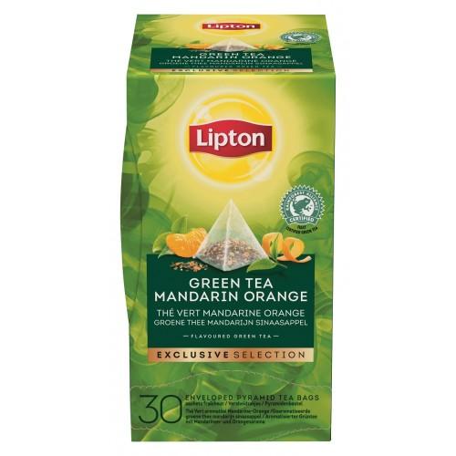 """Τσάι Πυραμίδα Green Tea Mandarin Orange """"Lipton"""" (1 πακέτο - 30 Φακελάκια Χ 1.8 gr /6 πακέτα στο κιβώτιο)"""