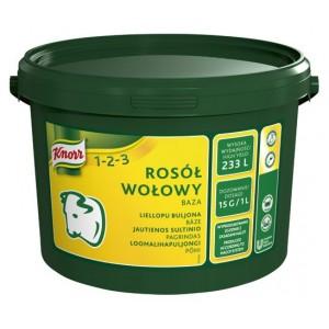 """Ζωμός Βοδινού σε Σκόνη 123 """"Knorr"""" 3,5 Kg"""