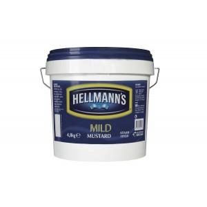 Μουστάρδα Hellmann's Mild (4.8 Kg δοχείο/2 δοχεία στο κιβώτιο)