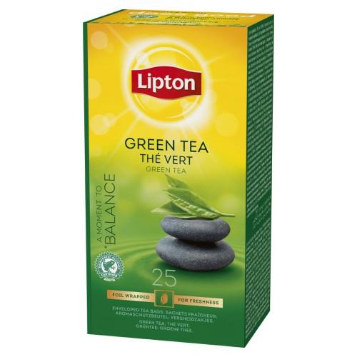 """Τσάι Πράσινο """"Lipton"""" (1 πακέτο - 25 Φακελάκια Χ 1.3 gr /6 πακέτα στο κιβώτιο)"""