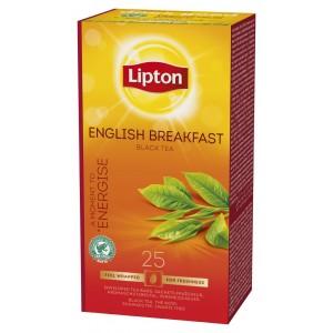 """Τσάι English Breakfast """"Lipton"""" (1 πακέτο - 25 Φακελάκια Χ 2 gr /6 πακέτα στο κιβώτιο)"""