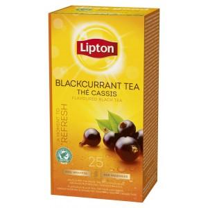 """Τσάι Μαύρο Φραγκοστάφυλλο """"Lipton"""" (1 πακέτο - 25 Φακελάκια Χ 1.6 gr /6 πακέτα στο κιβώτιο)"""