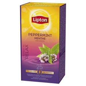 """Τσάι Peppermint """"Lipton"""" (1 πακέτο - 25 Φακελάκια Χ 1.6 gr /6 πακέτα στο κιβώτιο)"""