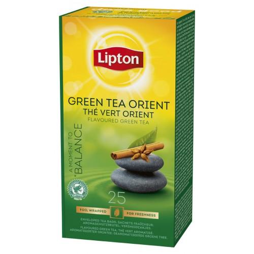 """Τσάι Πράσινο Μπαχαρικά Ανατολής """"Lipton"""" (1 πακέτο - 25 Φακελάκια Χ 1.3 gr /6 πακέτα στο κιβώτιο)"""