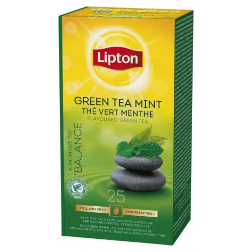 """Τσάι Green Mint """"Lipton"""" (1 πακέτο - 25 Φακελάκια Χ 1.6 gr /6 πακέτα στο κιβώτιο)"""
