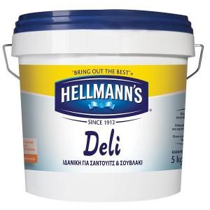 Μαγιονέζα Αναπλήρωμα Light Deli Hellmann's 5Lt