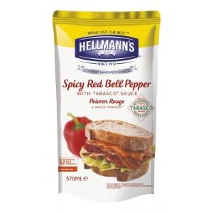 """Dressing για Σάντουιτς Καυτερή Πιπεριά με Tabasco """"Hellmann's"""" (570 ml τεμάχιο/5 τεμάχια στο κιβώτιο)"""