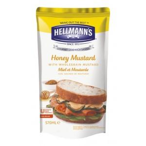 """Dressing για Σάντουιτς Μέλι Μουστάρδα """"Hellmann's"""" (570 ml τεμάχιο/5 τεμάχια στο κιβώτιο)"""