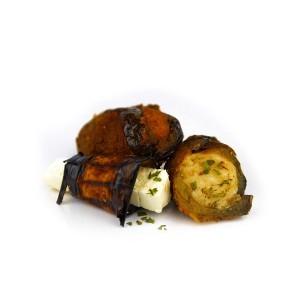 Μελιτζανοκροκέτα Τυλιχτή με Τυριά 40 gr περίπου (1 Kg πακέτο-23-25 τεμάχια/6 πακέτα στο κιβώτιο)