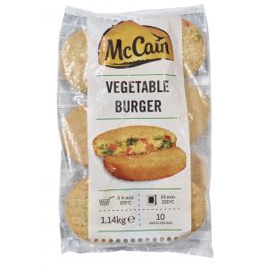 """Μπιφτέκι Λαχανικών Κατεψυγμένο 114 gr """"McCain""""  (10 τεμάχια το πακέτο-1.140 Kg πακέτο/3 πακέτα στο κιβώτιο)"""