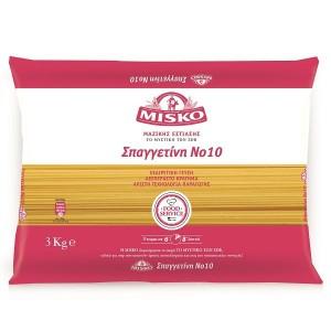 """Μακαρόνια Νο10 """"Misko"""" (3 Κg τεμάχιο/ 4 τεμάχια στο κιβώτιο)"""