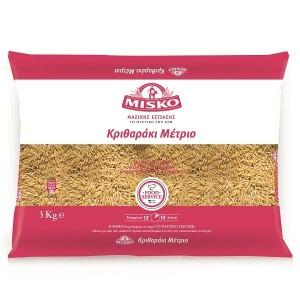 """Κριθαράκι Μέτριο """"Misko"""" (3 Kg τεμάχιο/ 4 τεμάχια στο κιβώτιο)"""
