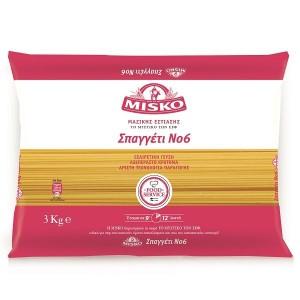 """Μακαρόνια Σπαγγέτι Νο6 """"Misko"""" (3 Kg Τεμάχιο/ 4 τεμάχια στο κιβώτιο)"""